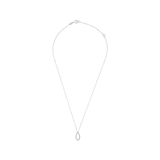 White Gold Happy Moments Necklace with Diamonds
