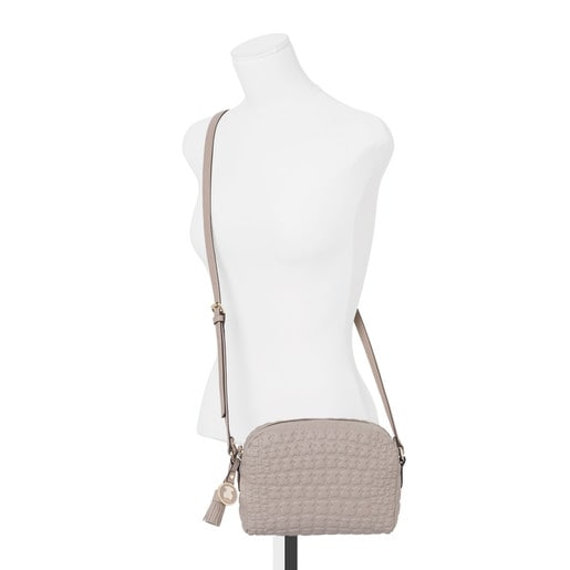 Taupe colored Leather Sherton Crossbody bag