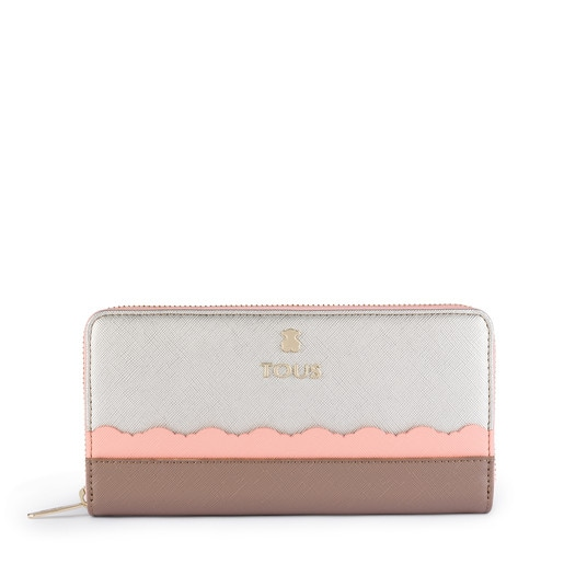 Medium silver-pink colored Carlata Wallet