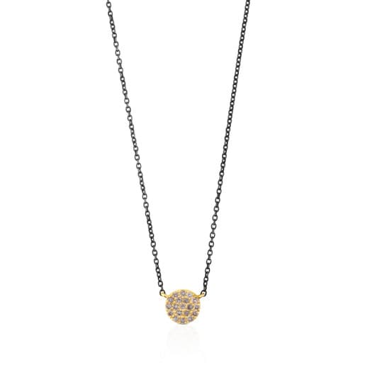 Silver and Gold Gem Power Necklace with Diamonds
