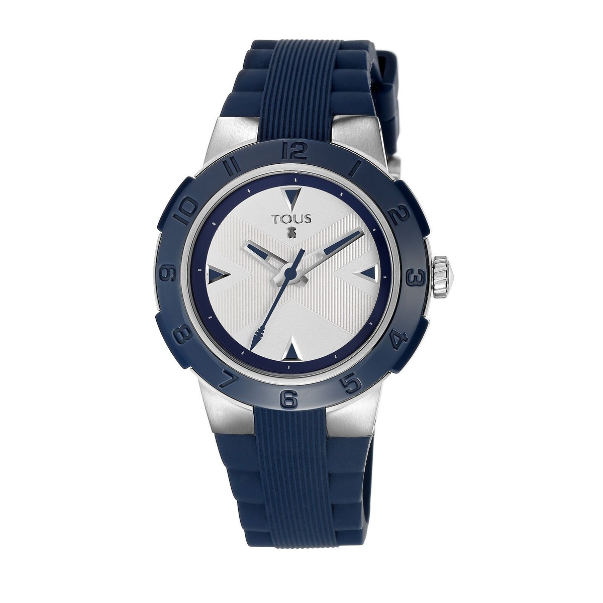 Steel Xtous Colors Watch with navy blue Silicone strap