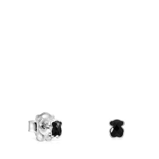 Mini Onix Earrings in Silver with Onyx