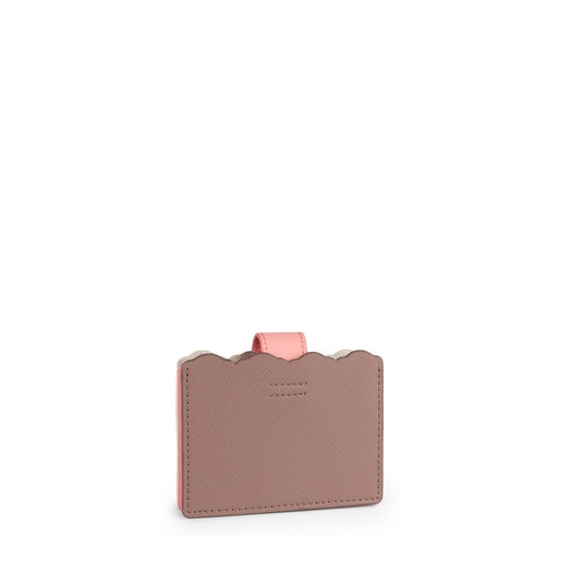Silver-pink colored Carlata Accordion cardholder