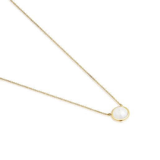 Avalon Necklace in Gold and Pearl