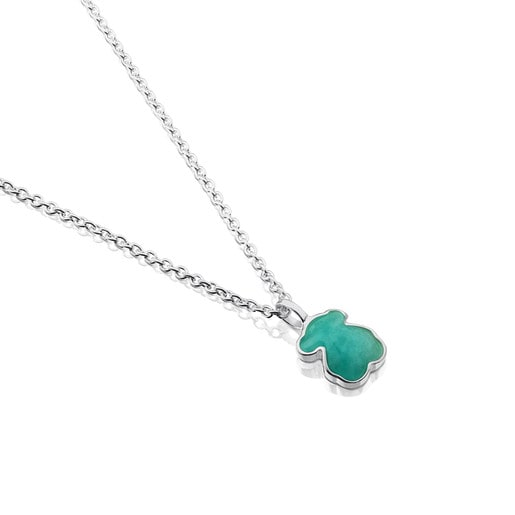 Silver New Color Necklace with Amazonite
