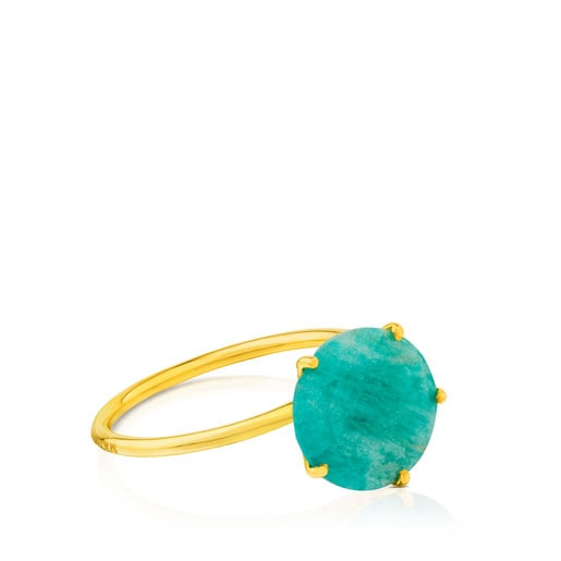 Ivette Ring in Gold with Amazonite