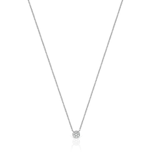 White Gold with Diamonds Alecia Necklace