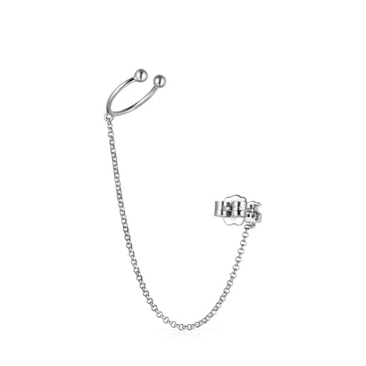 Light 1/2 Earring in White Gold with Diamonds